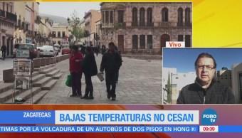 Siguen las bajas temperaturas en Zacatecas