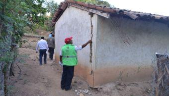 Avanza reconstrucción de viviendas afectadas por sismo en Oaxaca