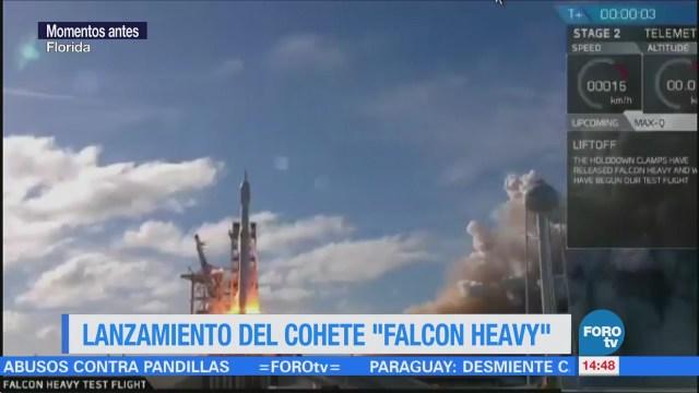 Spacex Lanza Cohete Operación Más Poderoso Mundo