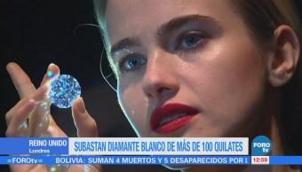 Subastan diamante blanco de más de 100 quilates en Reino Unido