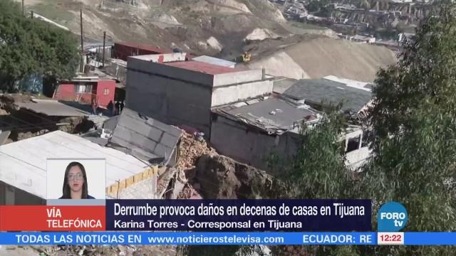 Suman 82 viviendas afectadas por grieta en Tijuana, Baja California