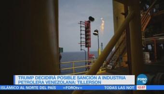 Tillerson: EU busca sancionar a la industria petrolera de Venezuela