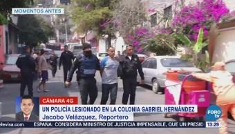 Policía Lesionado Enfrentamiento Colonia Gabriel Hernández Cdmx Policía De La Ciudad De México