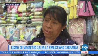 Vecinos Delegación Venustiano Carranza Reportan Sismo Zona