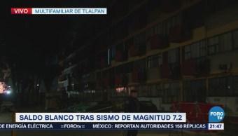 Vecinos del Multifamiliar Tlalpan molestos por falta de avances tras sismo