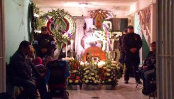 Velan al policía que falleció en la delegación Azcapotzalco