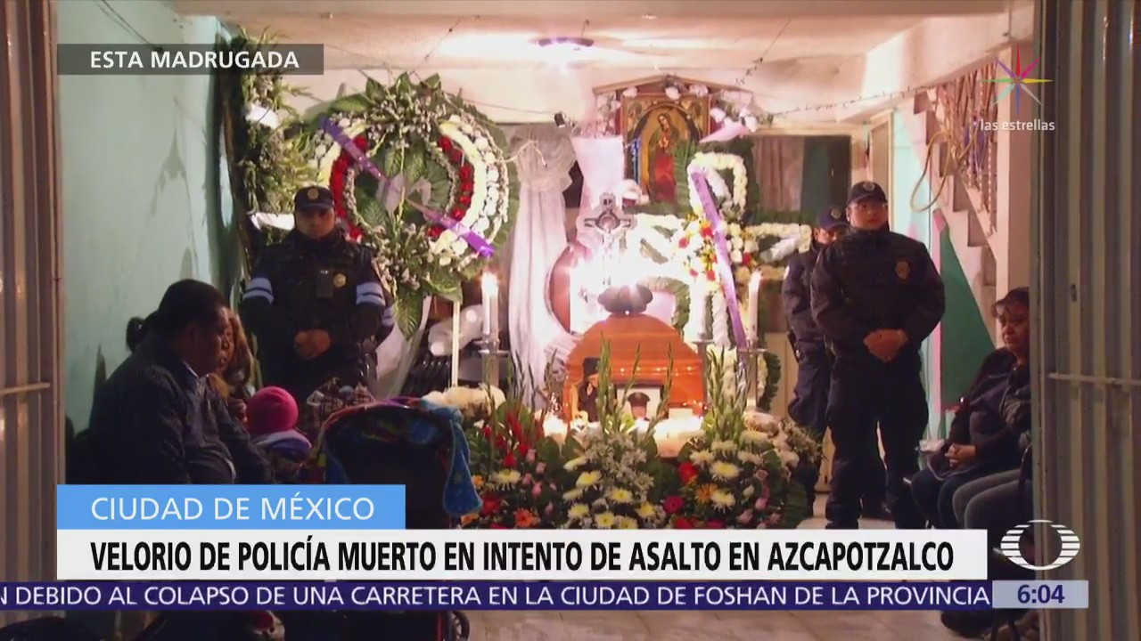 Velan a policía muerto en la delegación Azcapotzalco