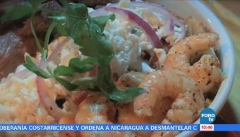 Viernes Culinario: Chilaquiles con arrachera y camarón que se pueden disfrutar en la CDMX