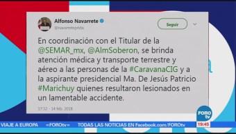 Ya se brinda atención a 'Marichuy', informa Navarrete