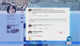 'Yo Mero', responde Meade a Tatiana Clouthier