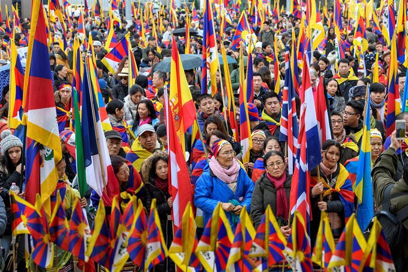Se manifiestan frente a la ONU por derechos humanos en el Tíbet