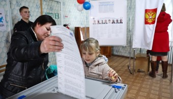 Elevada participación en las elecciones presidenciales de Rusia