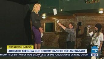 Abogado asegura que Stormy Daniels fue amenazada