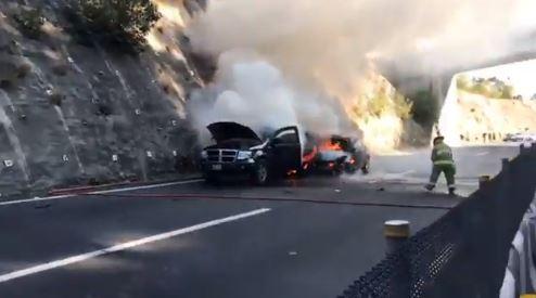 Accidente vehicular provoca cierre en la carretera Chamapa-La Venta. (Twitter/@PoliciaFedMx)