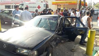 Accidente vehicular en Coatzacoalcos deja seis lesionados
