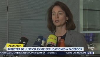 Alemania exige explicaciones a Facebook por caso Cambridge Analytica