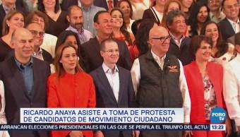 Anaya asiste a toma de protesta de candidatos de Movimiento Ciudadano