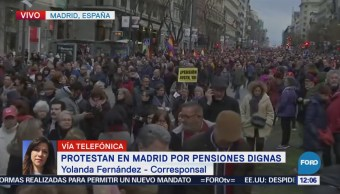Pensionados Protestan Madrid Otras Ciudades