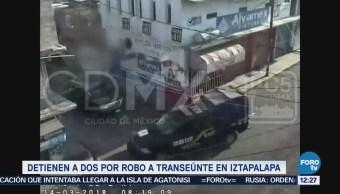 Detienen Dos Robo Transeúnte Iztapalapa