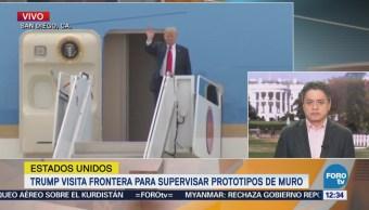 Ariel Moutsatsos analiza la visita de Trump a la frontera para supervisar prototipos de muro