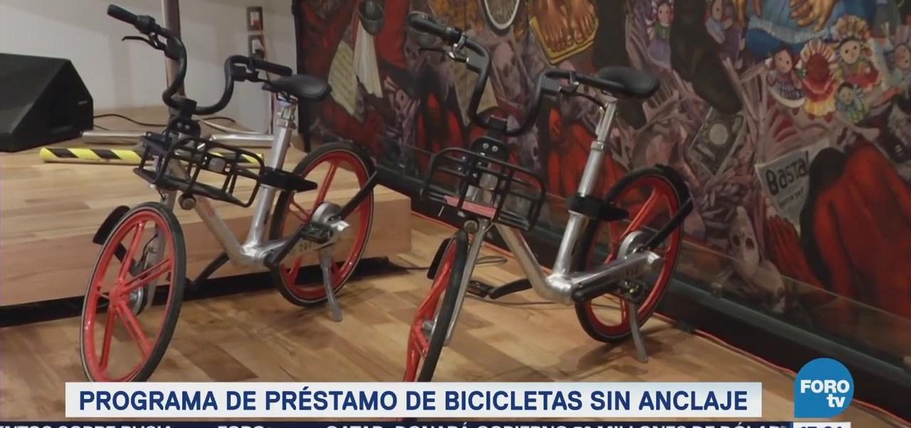 Arranca programa de préstamo de bicicletas sin anclaje