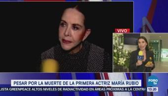 Artistas y familiares se reúnen para despedir a la actriz María Rubio