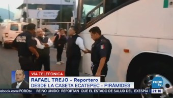 Asaltan autobús en la autopista México-Pirámides