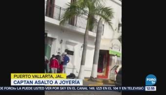 Asaltan dos joyerías de manera simultánea en Puerto Vallarta