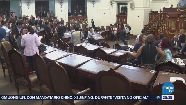 Asambleístas capitalinos levantan sesión por falta de quórum