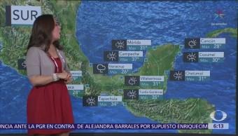 Bajas temperaturas y lluvias por el frente frío 38