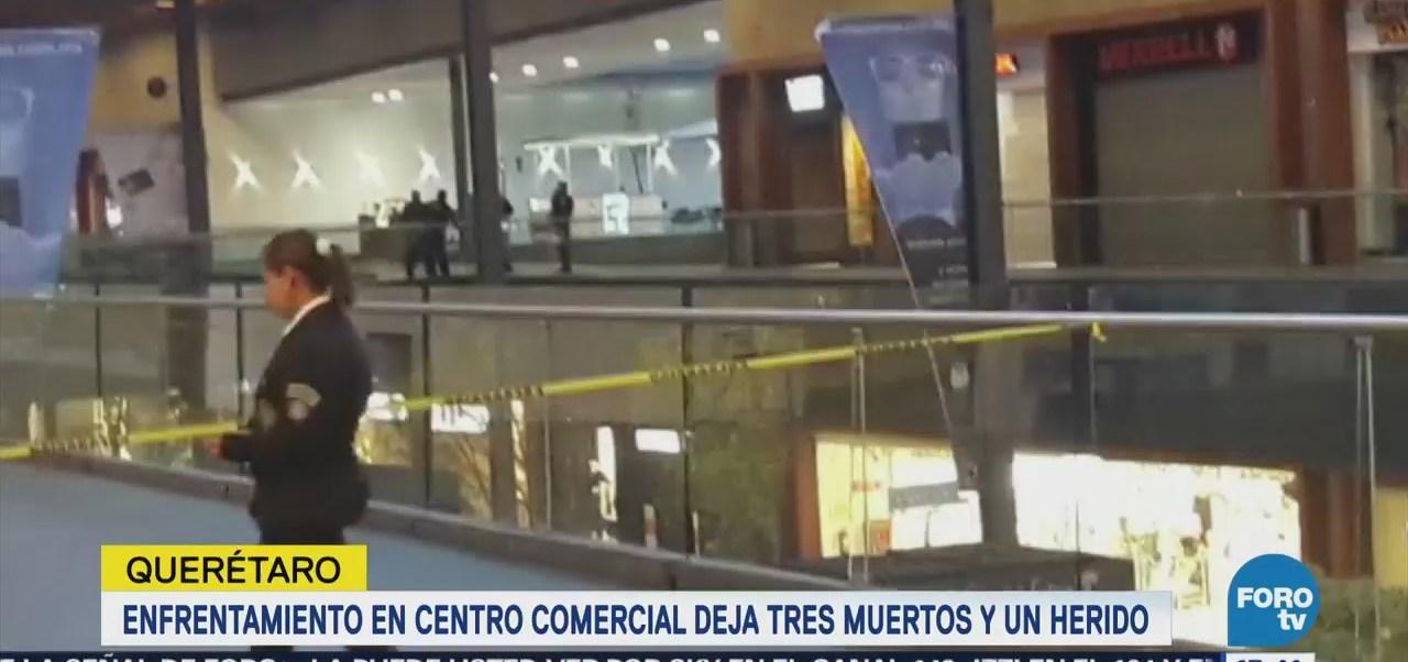 Balacera en centro comercial de Querétaro
