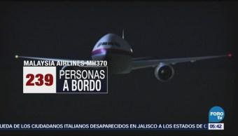 Búsqueda de avión de Malaysia Airlines desaparecido en 2014