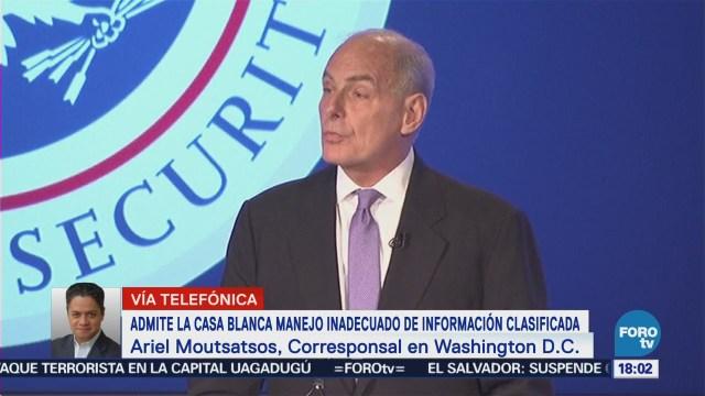 Casa Blanca Admite Manejo Inadecuado Información Clasificada
