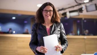 Malmström: Europa no teme amenazas de Estados Unidos