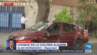 Choque en la colonia Algarín deja una mujer lesionada