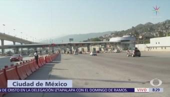 Cientos de autos salen de la CDMX por la autopista México-Cuernavaca