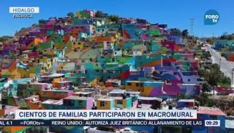 Cientos Familias Suman Macromural Más Grande Mundo Pachuca
