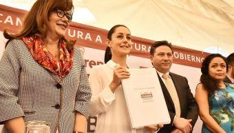 Claudia Sheinbaum registra su candidatura a la jefatura de Gobierno de CDMX