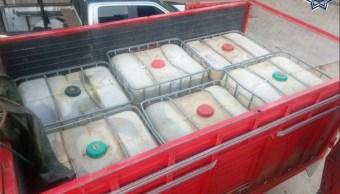 Aseguran 10 mil litros de gasolina robada en Oaxaca