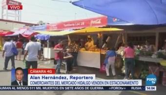 Comerciantes Mercado Hidalgo Doctores Instalan Estacionamiento