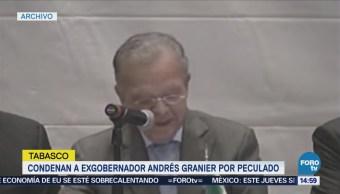 Condenan a exgobernador Andrés Granier por peculado