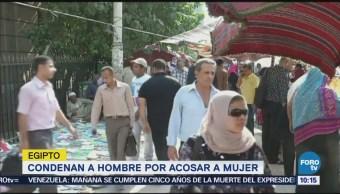 Condenan a hombre por acosar a mujer en Egipto