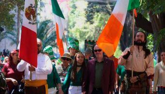 Celebran el Día de San Patricio en la Ciudad de México