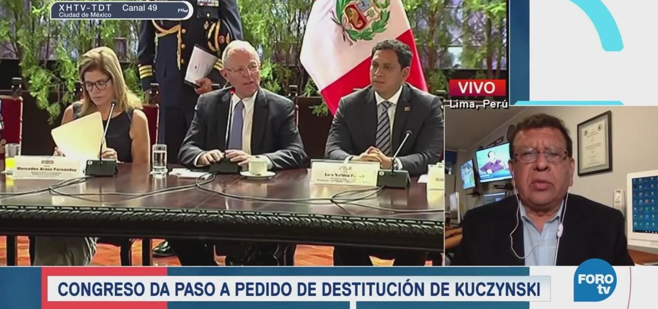Congreso de Perú da paso a pedido de destitución de Kuczynski