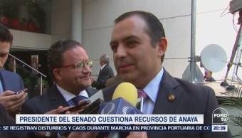 Cordero cuestiona recursos de Ricardo Anaya