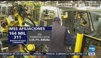 Creación de empleos formales rompe récord en febrero: IMSS