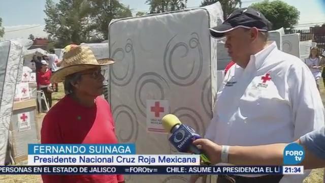 Cruz Roja Mexicana Entrega Ayuda Humanitaria Damnificados Tláhuac