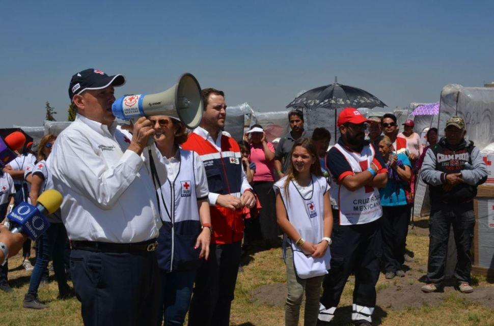 cruz roja ayuda tlahuac delegacion sismo