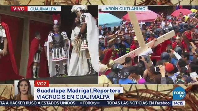 Cuajimalpa escenifica su Pasión en la Iglesia de San Pedro