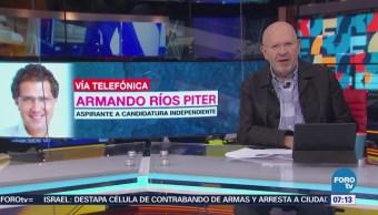 Defiende Ríos Piter recolección de firmas